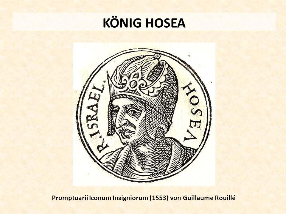 KÖNIG HOSEA Promptuarii Iconum Insigniorum (1553) von Guillaume Rouillé