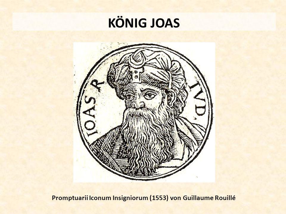 KÖNIG JOAS Promptuarii Iconum Insigniorum (1553) von Guillaume Rouillé