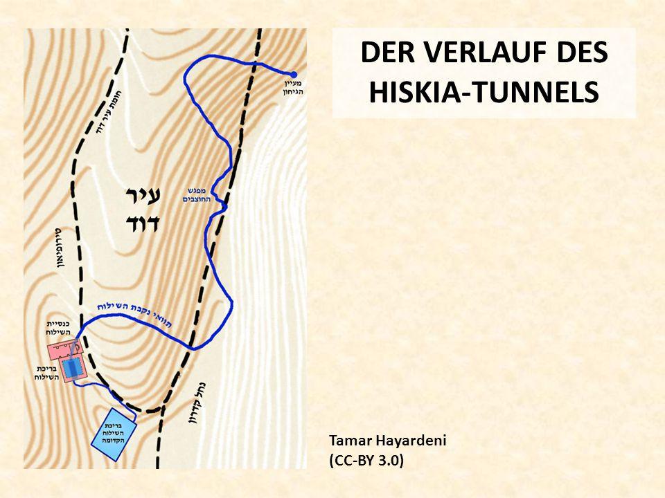 DER VERLAUF DES HISKIA-TUNNELS Tamar Hayardeni (CC-BY 3.0)