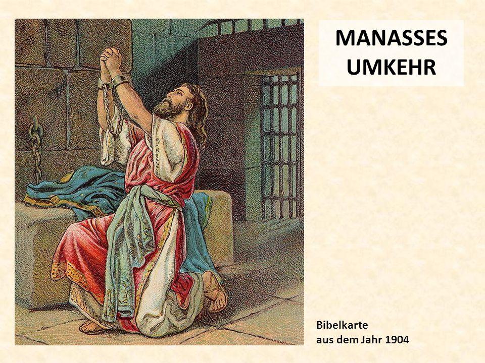 MANASSES UMKEHR Bibelkarte aus dem Jahr 1904