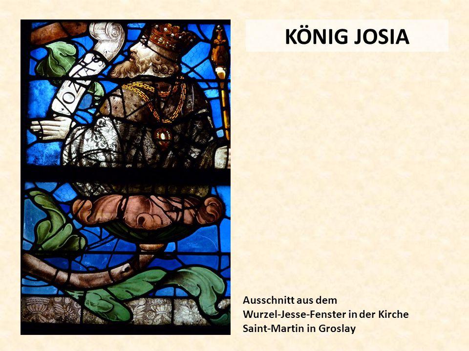 KÖNIG JOSIA Ausschnitt aus dem Wurzel-Jesse-Fenster in der Kirche Saint-Martin in Groslay