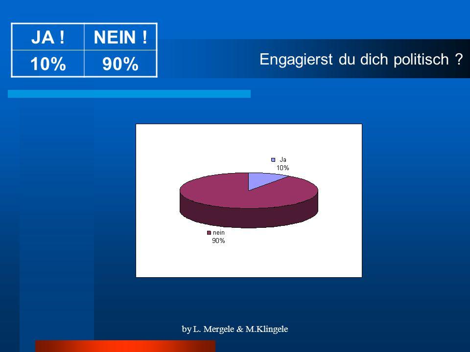by L. Mergele & M.Klingele Engagierst du dich politisch JA !NEIN ! 10%90%