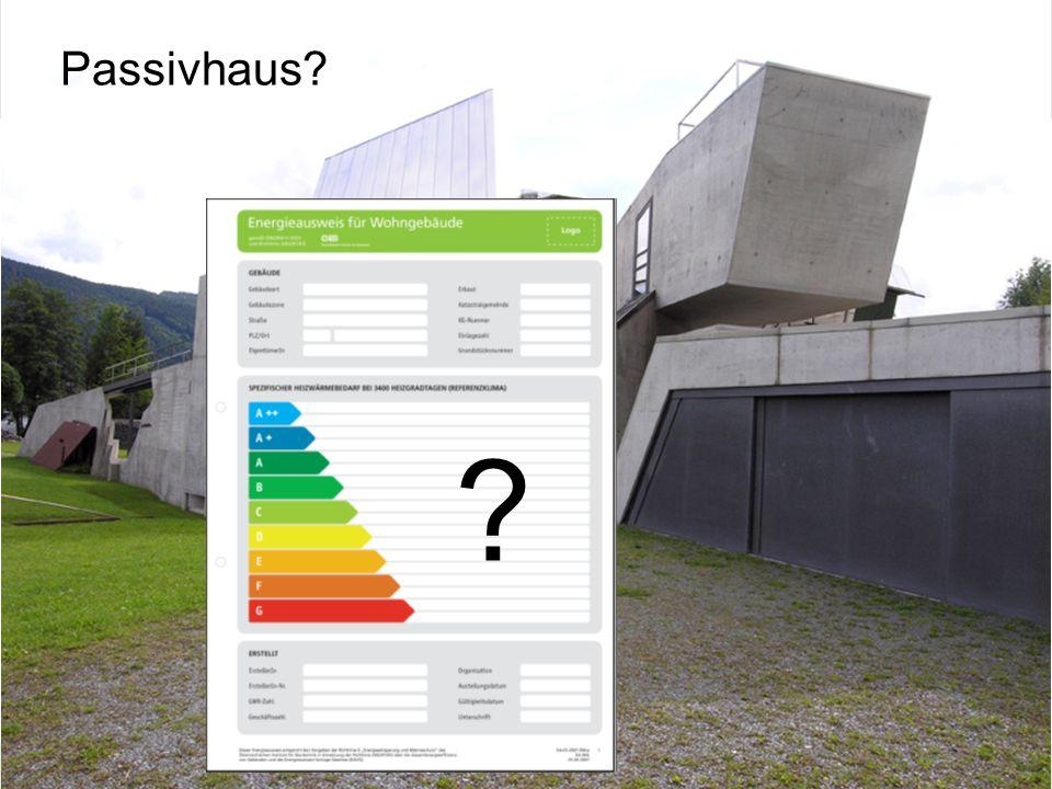 Energiebeauftragter DI Wolfgang Jilek Passivhaus? ?