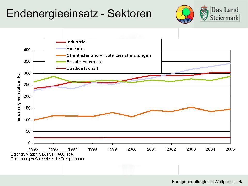 Energiebeauftragter DI Wolfgang Jilek Endenergieeinsatz - Sektoren
