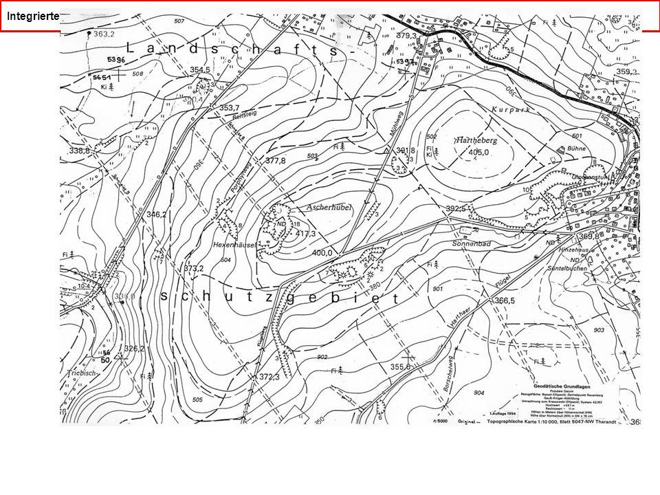 Integriertes geologisch/geophysikalisches Feldpraktikum Tharandter Wald Kartenvorlage für die Routenkartierung