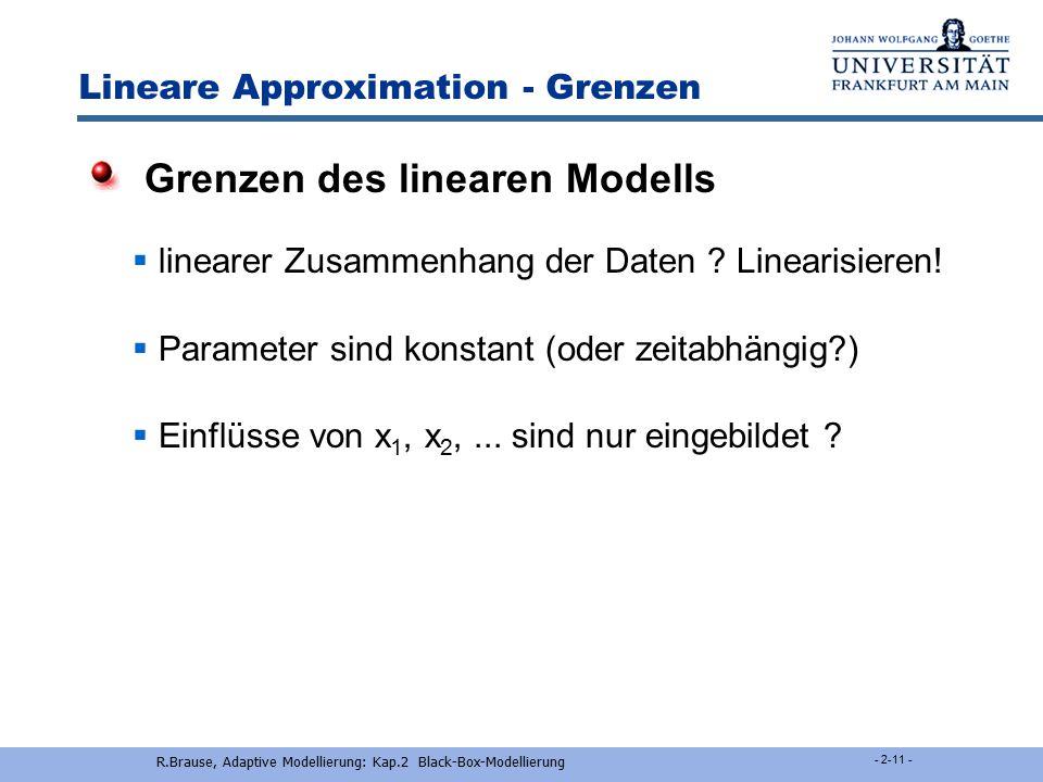 TLMSE - Parameterschätzung Vorhanden: Messungen x = (y,x ~ ) Gesucht: Eigenvektor von C xx mit min. 1.Lösung: Fixpunktalgorithmus für EV a(t+1) = Ca(t