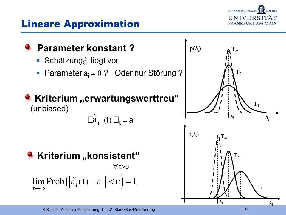 Linearisierung R.Brause, Adaptive Modellierung: Kap.2 Black-Box-Modellierung - 2-13 - Linearisieren von nichtlin. Messungen  y = y 0 + ax 1/2 + u z =