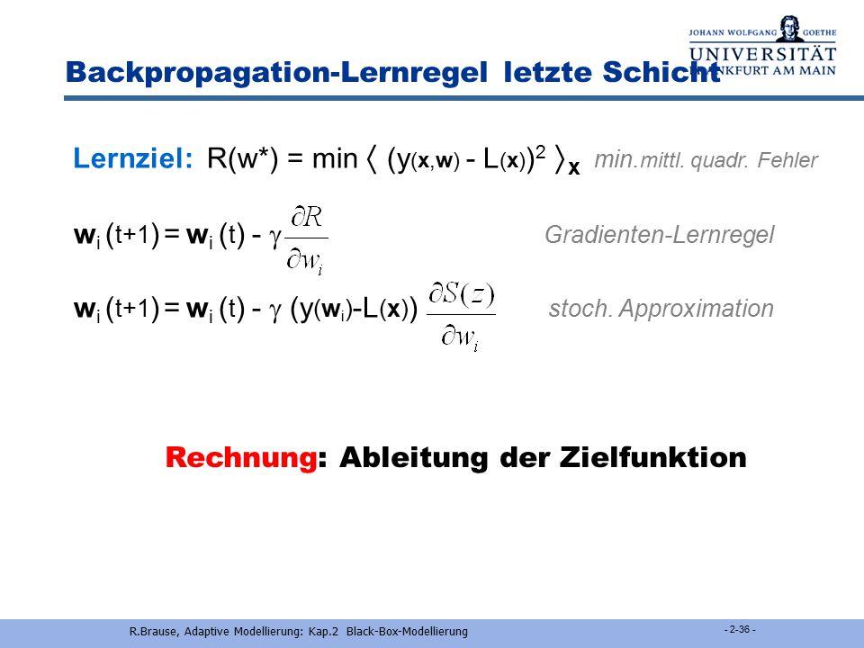 Voraussetzungen das klein Gedruckte...  die Funktion F(w) :=  f(x,w)  x ist zentriert, d.h. F(w*) = 0  F(w) ist ansteigend, d.h. F(w w*) > 0  F(w