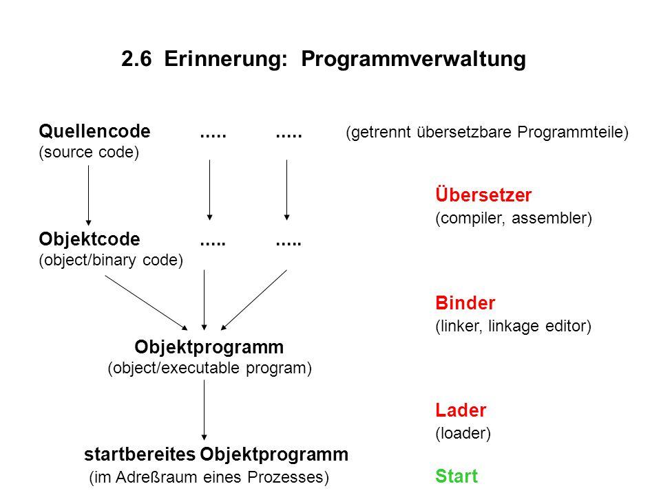 2.6 Erinnerung: Programmverwaltung Quellencode..........