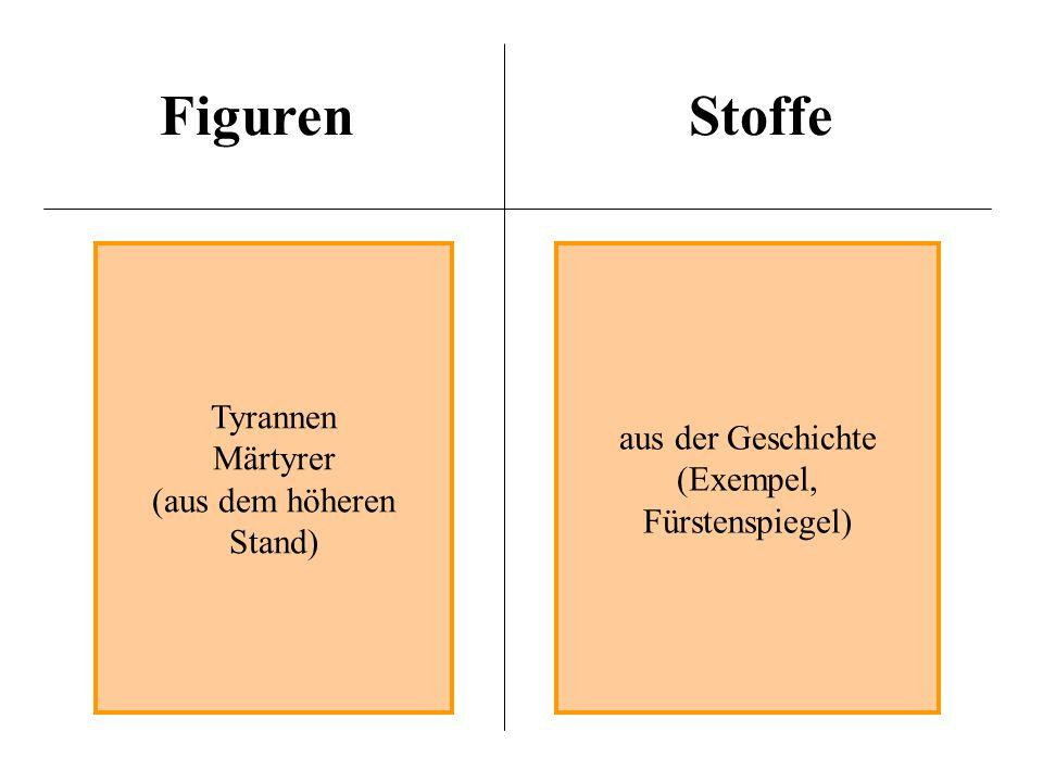 FigurenStoffe Tyrannen Märtyrer (aus dem höheren Stand) aus der Geschichte (Exempel, Fürstenspiegel)