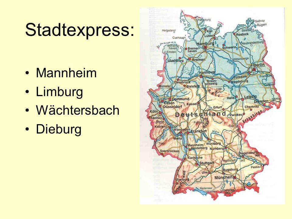 Zugauskunft a.Wann fährt ein Zug nach Berlin ab. 7.19Uhr b.