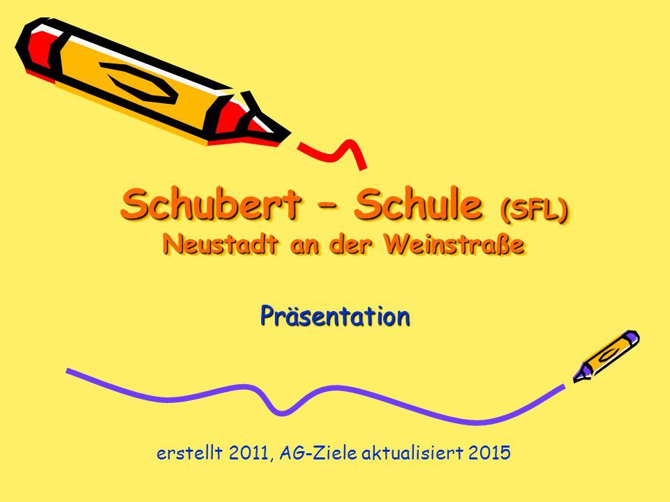 Schubert – Schule (SFL) Neustadt an der Weinstraße Präsentation erstellt 2011, AG-Ziele aktualisiert 2015