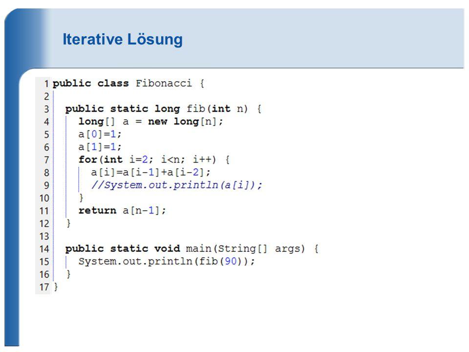 Iterative Lösung