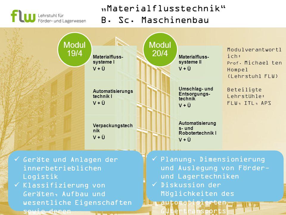 "Profilmodul ""Materialflusstechnik B.Sc."