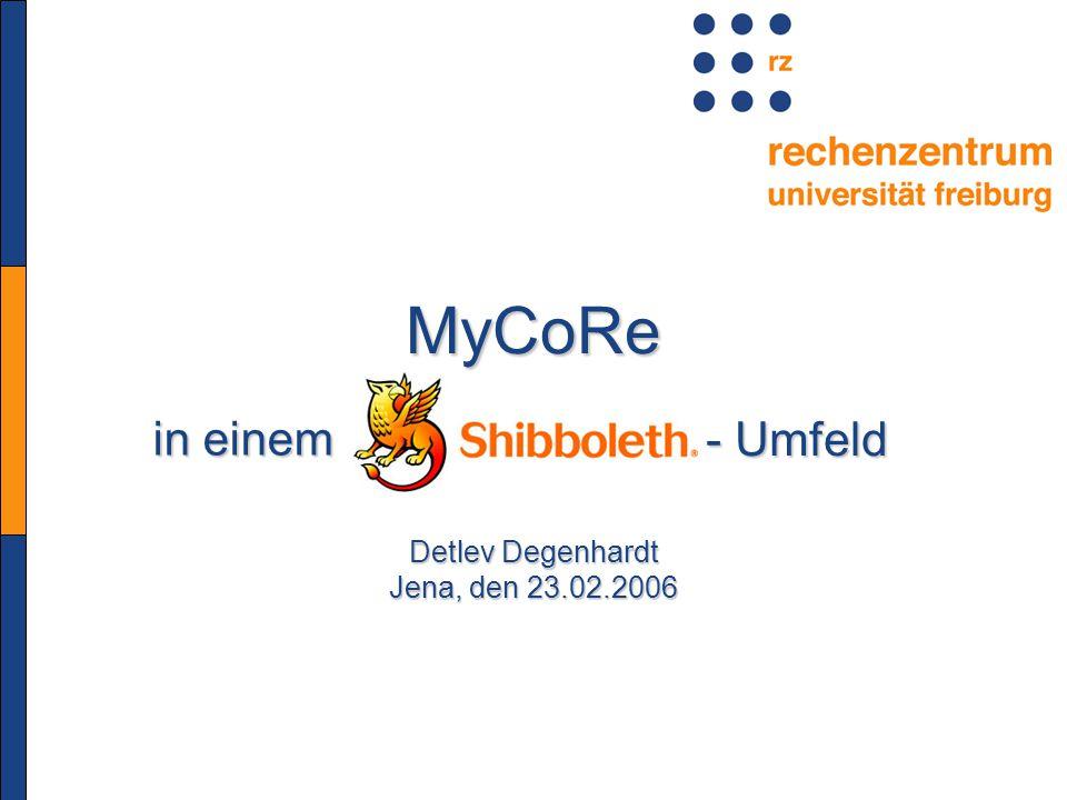 MyCoRe in einem in einem Detlev Degenhardt Jena, den 23.02.2006 - Umfeld - Umfeld