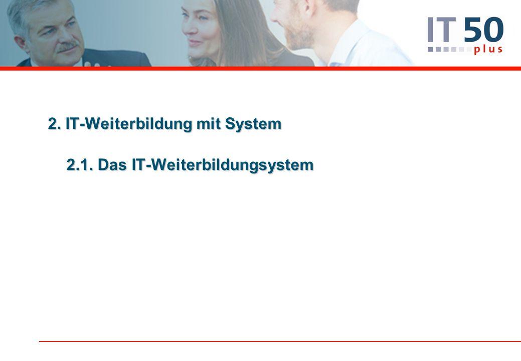 2. IT-Weiterbildung mit System 2.1. Das IT-Weiterbildungsystem