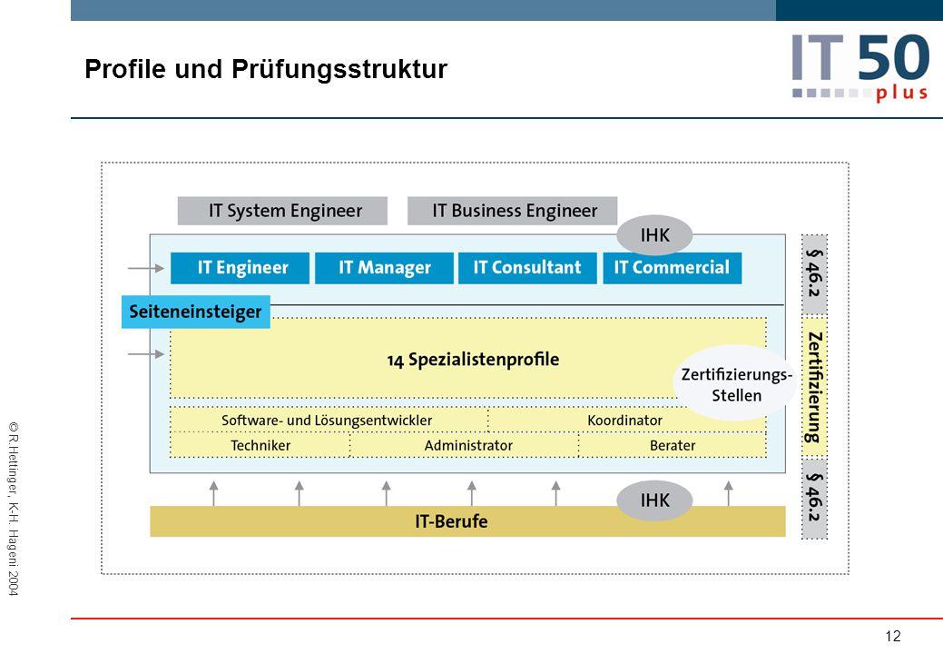 © R.Hettinger, K-H. Hageni 2004 Profile und Prüfungsstruktur 12