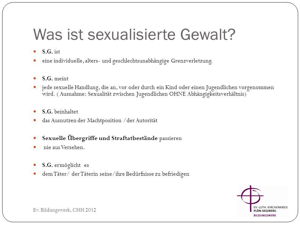 Arten von sexualisierter Gewalt Ev.