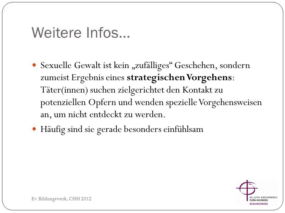 In der Institution… Ev.Bildungswerk, CHH 2012 Wahl von Beruf bzw.