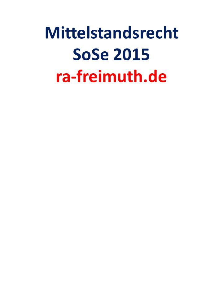 Mittelstandsrecht SoSe 2015 ra-freimuth.de