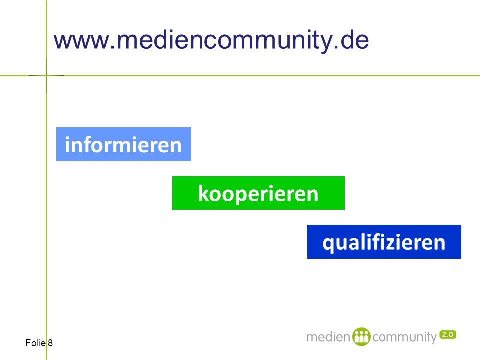 """Folie 19 Wer sind die Partner im Projekt """"mediencommunity 2.0 ."""