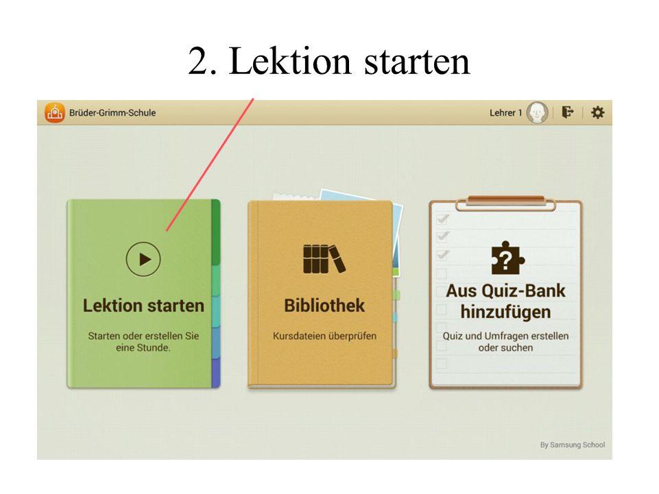 2. Lektion starten