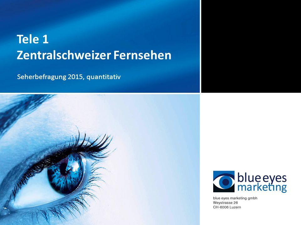 Tele 1 Zentralschweizer Fernsehen Seherbefragung 2015, quantitativ