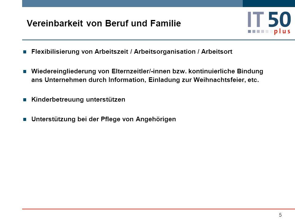 5 Flexibilisierung von Arbeitszeit / Arbeitsorganisation / Arbeitsort Wiedereingliederung von Elternzeitler/-innen bzw.