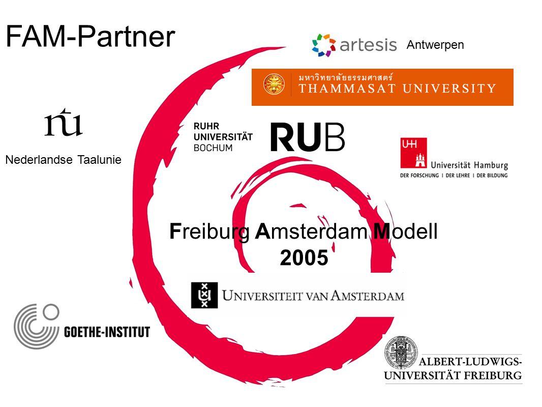 Freiburg Amsterdam Modell 2005 FAM-Partner Nederlandse Taalunie Antwerpen