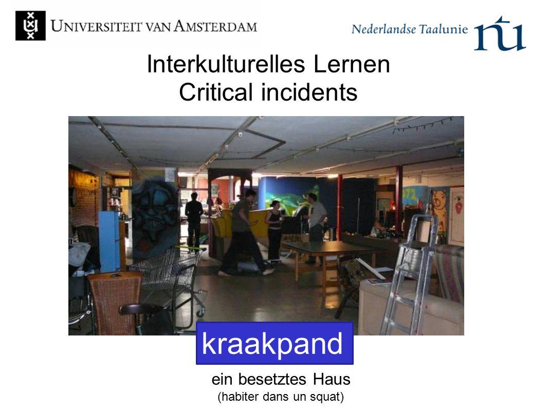 Interkulturelles Lernen Critical incidents ein besetztes Haus (habiter dans un squat) kraakpand