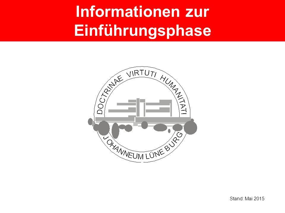 Informationen zur Einführungsphase Stand: Mai 2015