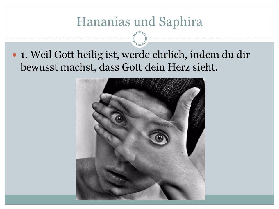 Hananias und Saphira 1.