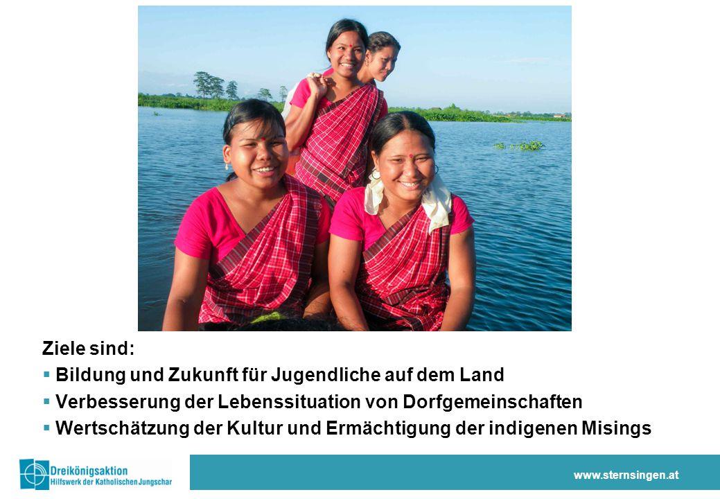 Ziele sind:  Bildung und Zukunft für Jugendliche auf dem Land  Verbesserung der Lebenssituation von Dorfgemeinschaften  Wertschätzung der Kultur un