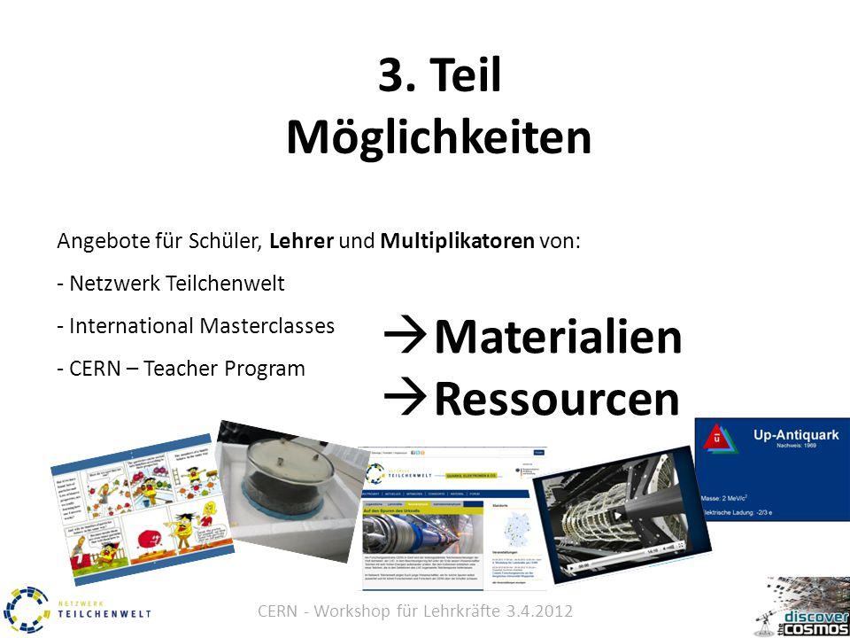 CERN - Workshop für Lehrkräfte 3.4.2012 3.