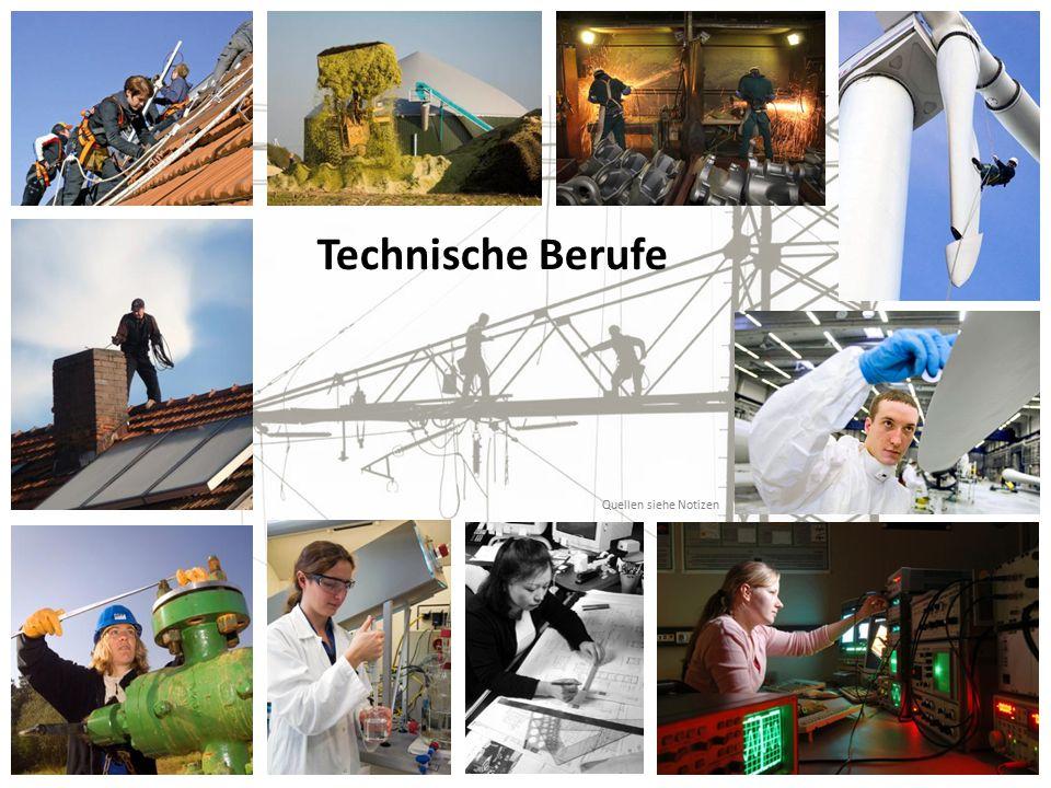 Technische Berufe Quellen siehe Notizen