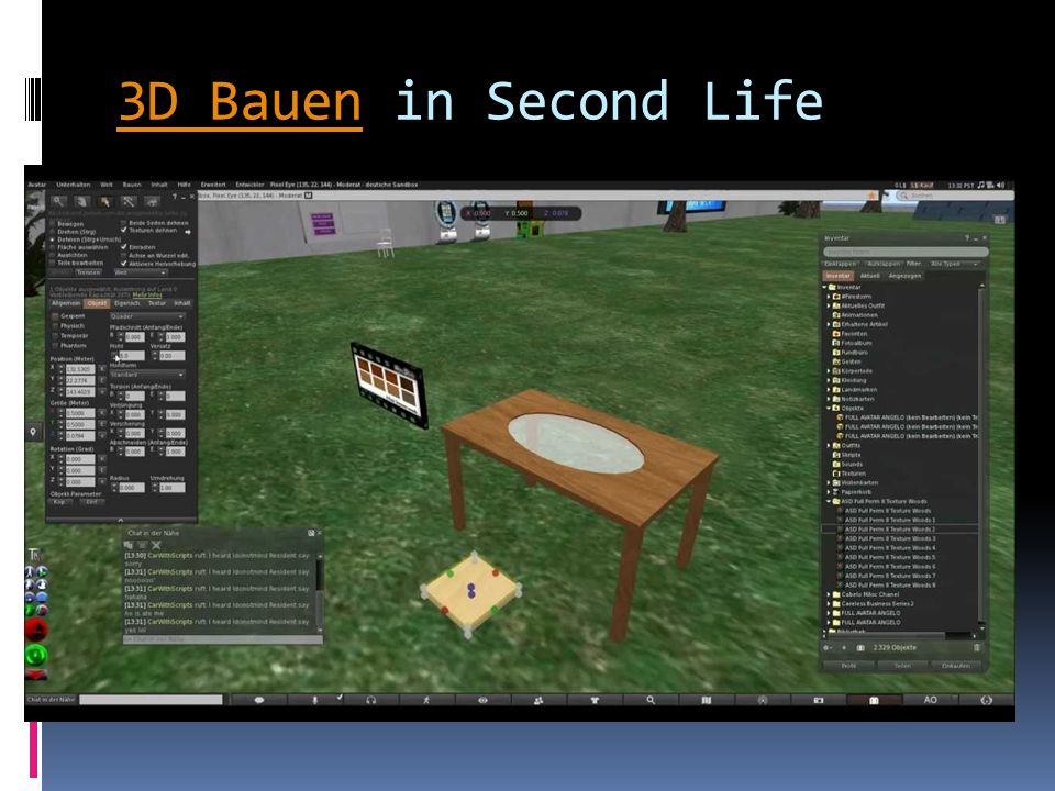 3D Bauen3D Bauen in Second Life