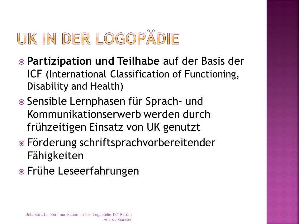  Partizipation und Teilhabe auf der Basis der ICF (International Classification of Functioning, Disability and Health)  Sensible Lernphasen für Spra