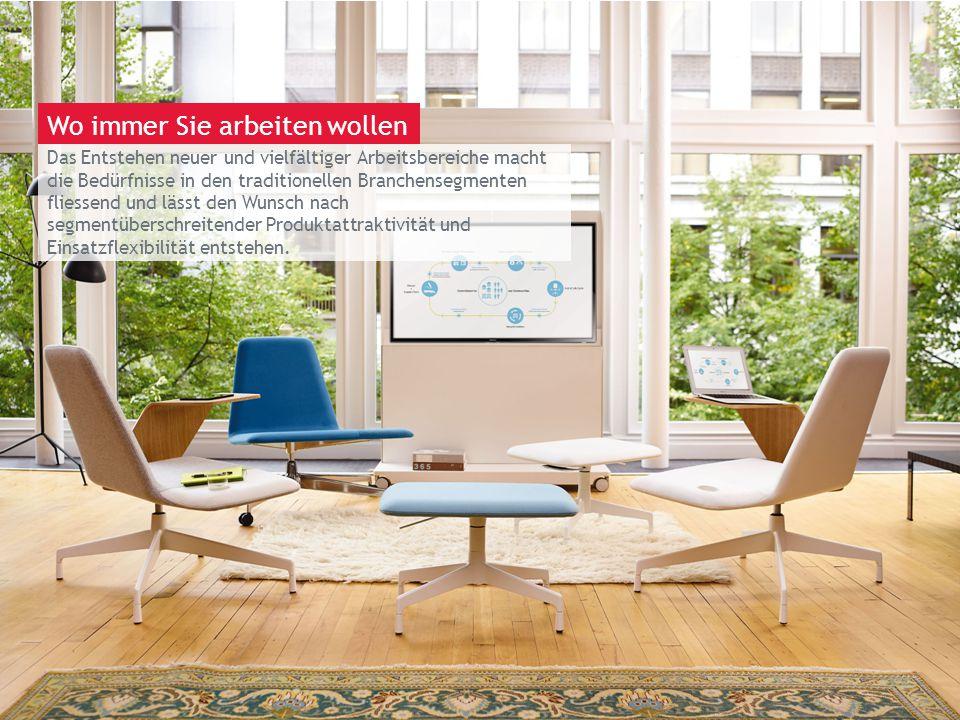 March 13th 2014 | Berlin Das Entstehen neuer und vielfältiger Arbeitsbereiche macht die Bedürfnisse in den traditionellen Branchensegmenten fliessend und lässt den Wunsch nach segmentüberschreitender Produktattraktivität und Einsatzflexibilität entstehen.