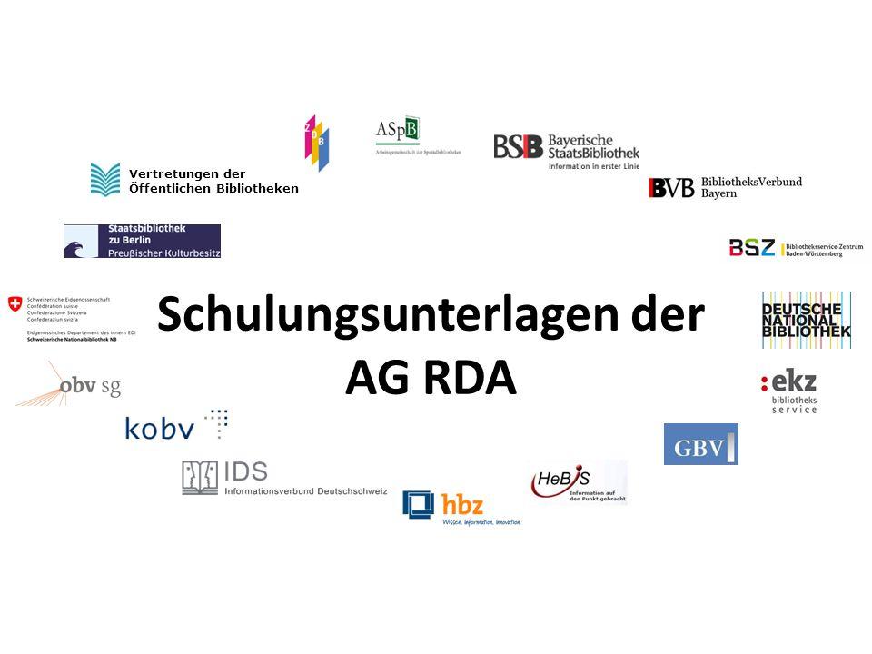 Weitere nach RAK-WB nicht zu erfassende Körperschaften, die mit dem RDA-Umstieg erfasst werden -Musik-/Künstlergruppen aus Vor- und Familiennamen (RAK § 631, ERL 3) (aber nur für feste Verbindungen; vgl.