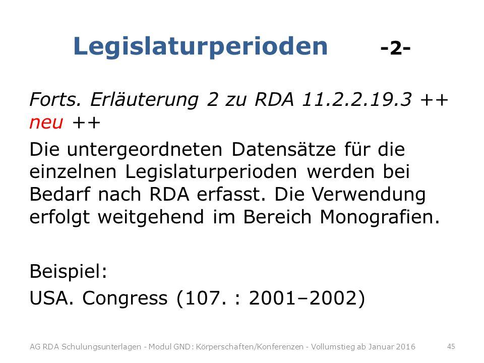 Legislaturperioden -2- Forts.