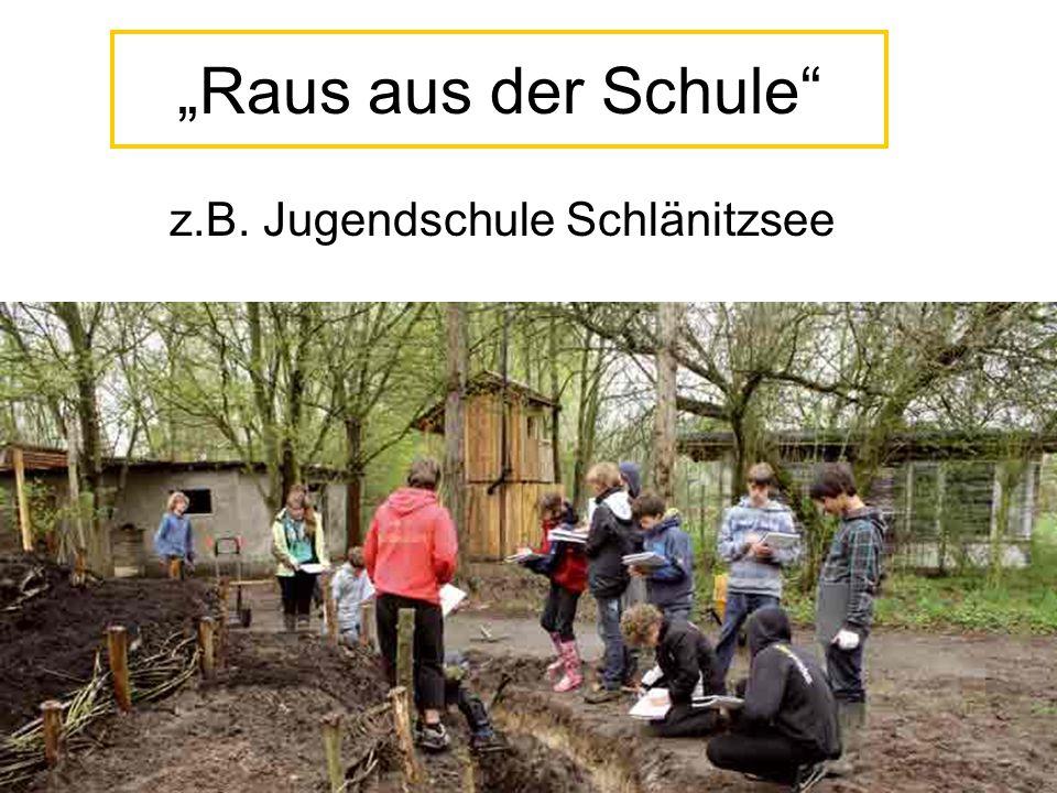 """""""Raus aus der Schule"""" z.B. Jugendschule Schlänitzsee"""