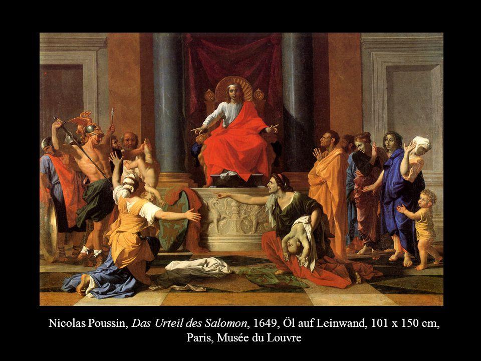 Nicolas Poussin, Das Urteil des Salomon, 1649, Öl auf Leinwand, 101 x 150 cm, Paris, Musée du Louvre