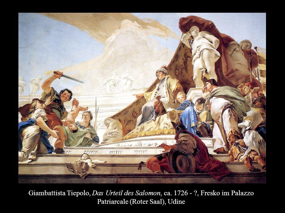Giambattista Tiepolo, Das Urteil des Salomon, ca. 1726 - ?, Fresko im Palazzo Patriarcale (Roter Saal), Udine