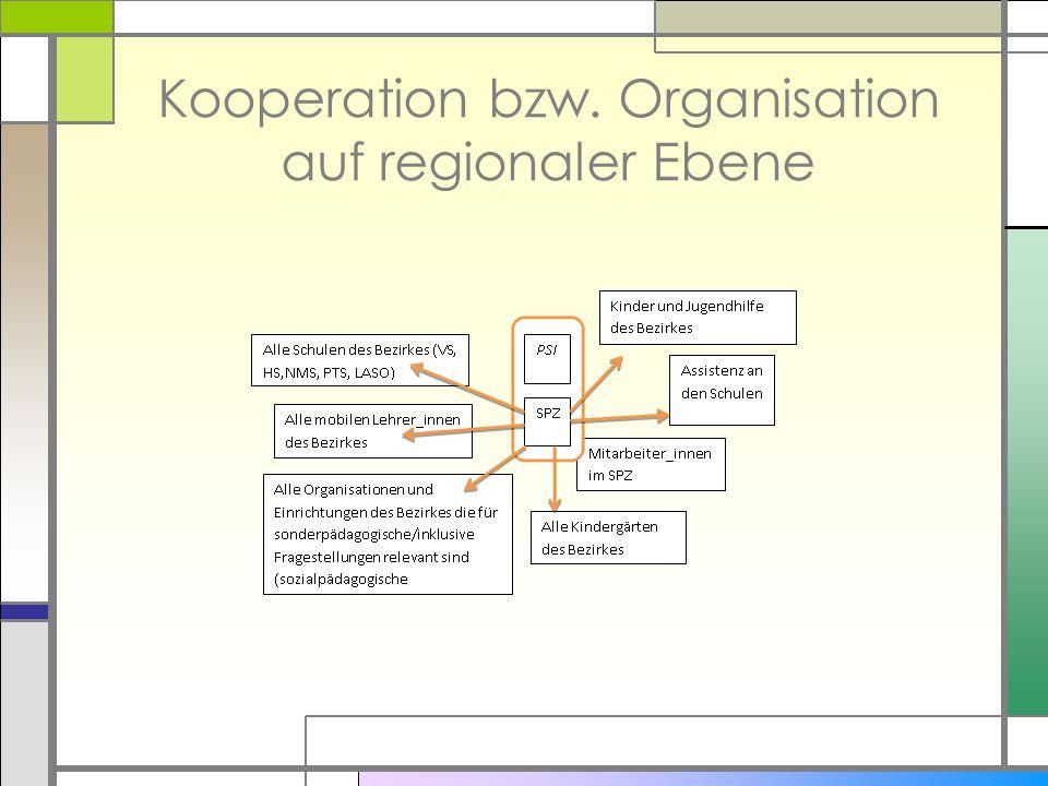 Kooperation bzw. Organisation auf regionaler Ebene