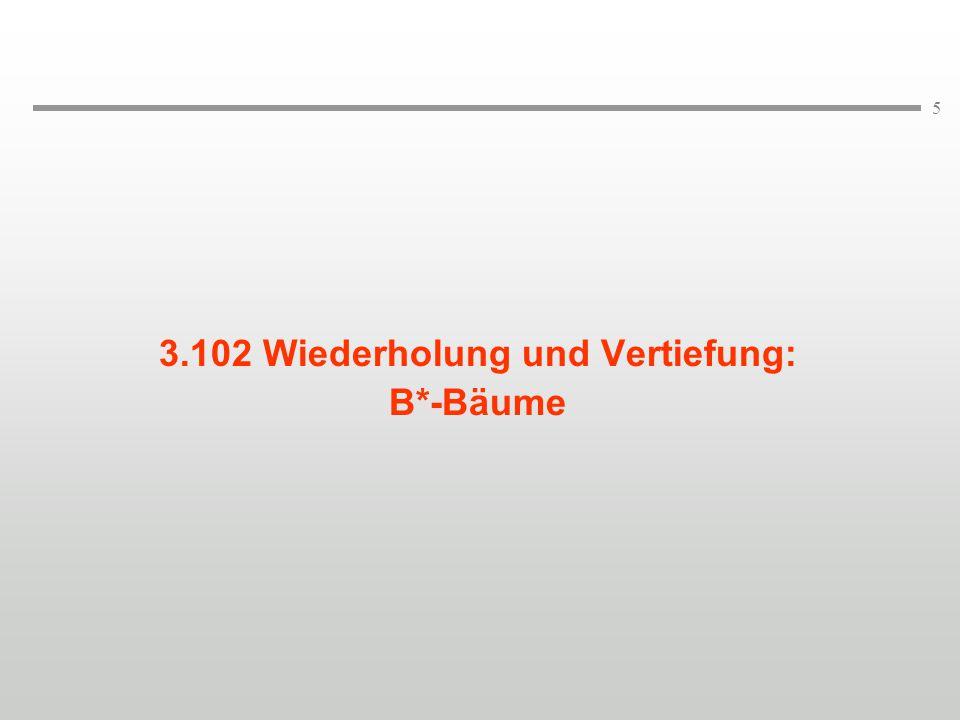 """36 Annahme: k=1 Beispiel für einen B-Baum 50 """"white  """"brown 70""""red  """"blue """"yellow 40""""black """"green """"red """"yellow  30 70 40  80  90   60  20 10 Schlüssel Datensatz  Höhe eines B-Baums mit N Datenseiten: log 2k+1 (N+1)  h  1+log k+1 ((N+1)/2) (N  1)"""