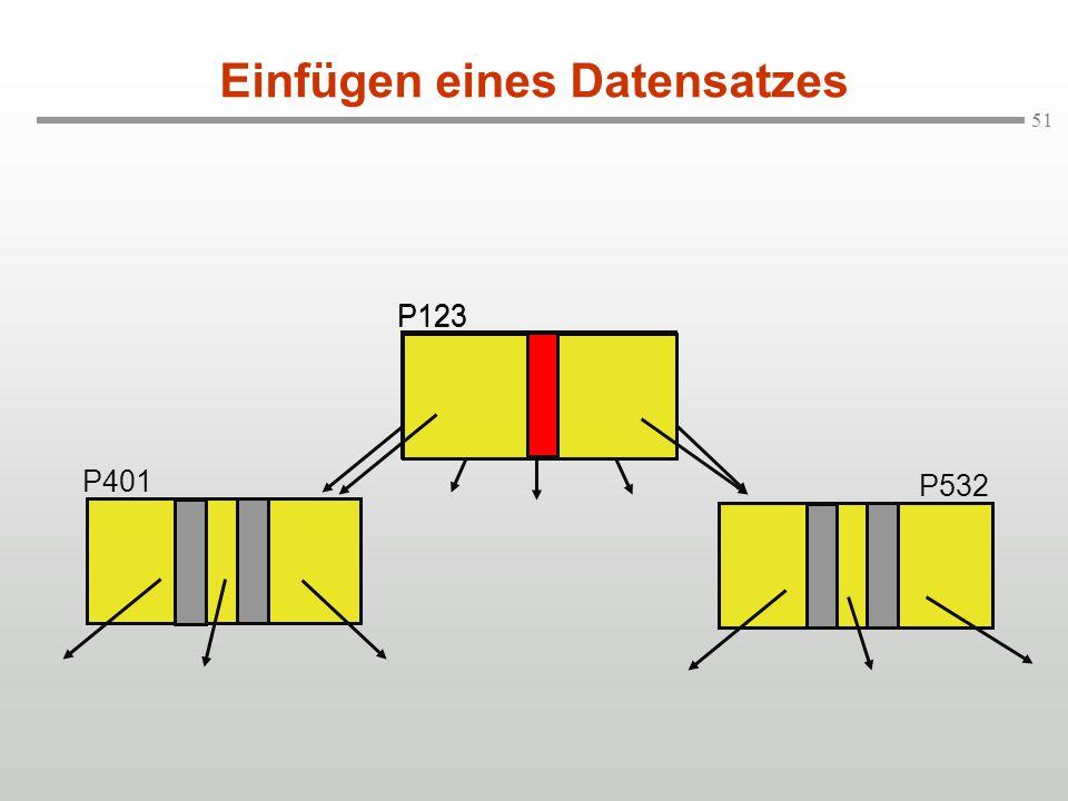 51 Einfügen eines Datensatzes P123 P401 P532 P123