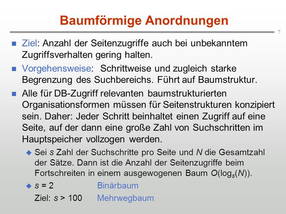 8 Vergleich Binärbaum und Mehrwegbaum Binärbaum (s=2) 520 356 740 231409622834 587701822910123277386469 65143241278361399420501534597679712780831878923