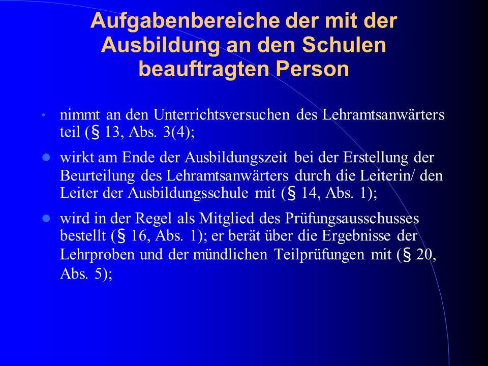 Termine (Stand Mai 2015) 6.Juli 15 - Mitteilung an das LPA über Zulassung zur Prüfung gem.