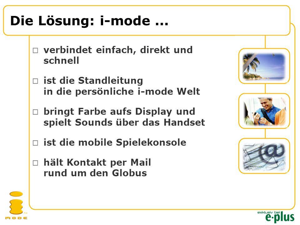Die Lösung: i-mode...