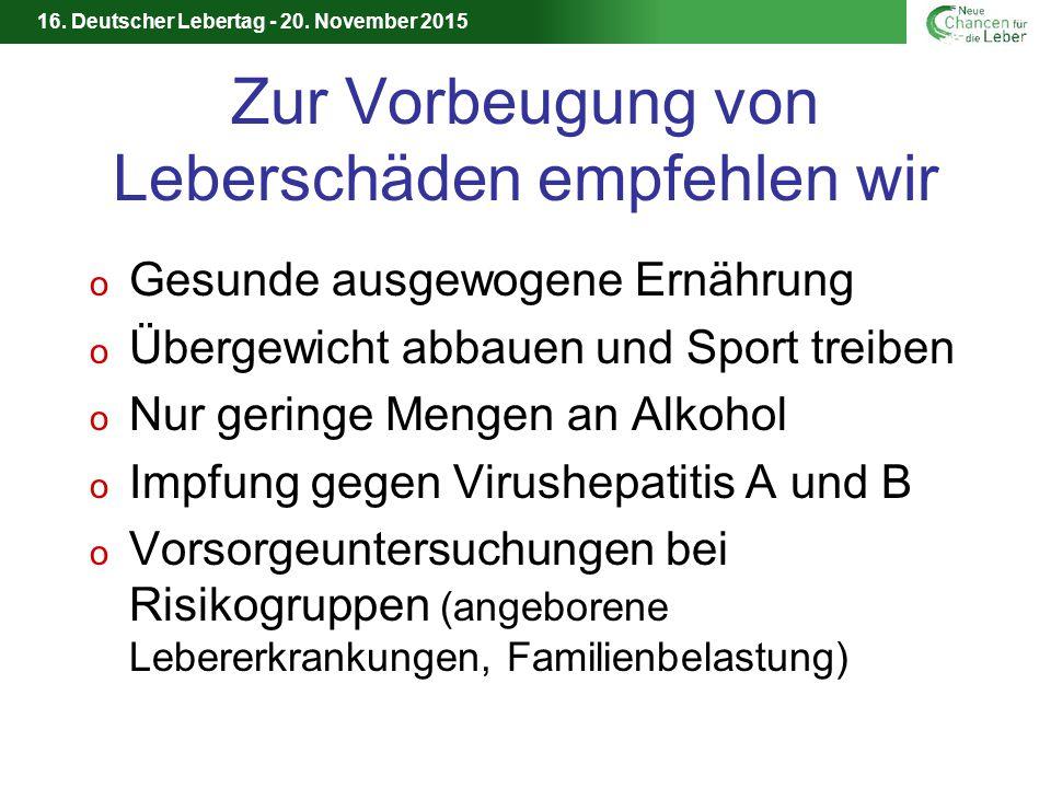 16.Deutscher Lebertag - 20.